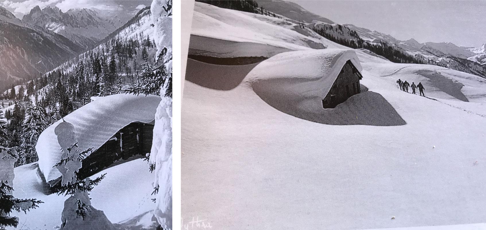 L'hiver au chalet à la montagne dans le village de Roubion